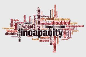 Incapacity Word Cloud Concept